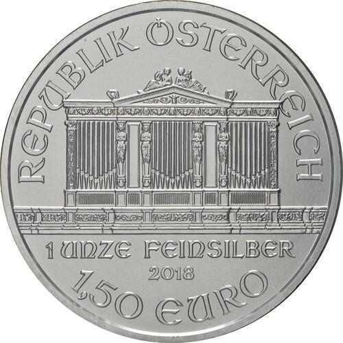 Rückseite:Österreich : 1,5 Euro Philharmoniker - Weihnachtsausgabe  2018 Stgl.