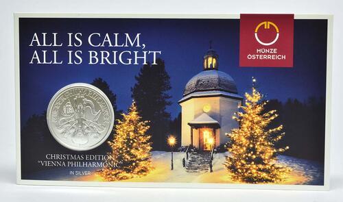 15 Euro Philharmoniker Weihnachtsausgabe 2018 Stgl österreich