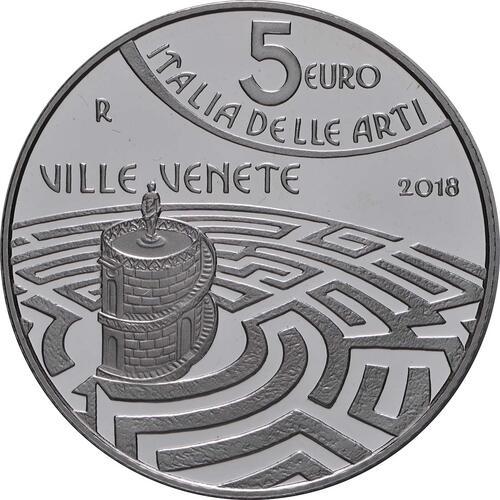Rückseite:Italien : 5 Euro Veneto - Venetische Villen  2018 PP