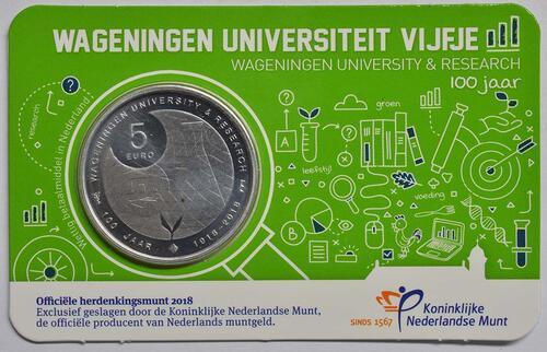 Lieferumfang:Niederlande : 5 Euro Uni Wageningen  2018 bfr