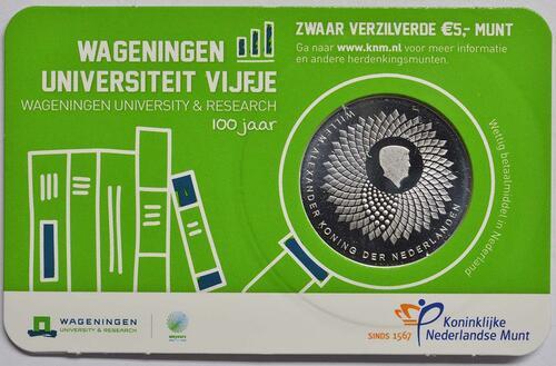 Zertifikat:Niederlande : 5 Euro Uni Wageningen  2018 bfr