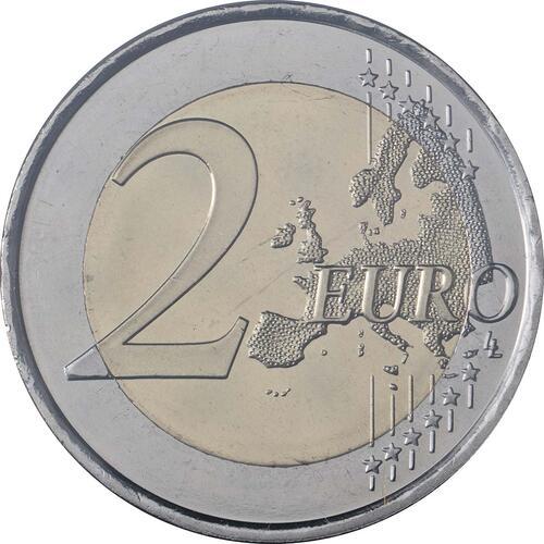 Vorderseite:Andorra : 2 Euro 70. Jahrestag der Annahme der allgemeinen Erklärung der Menschenrechte  2018 Stgl.