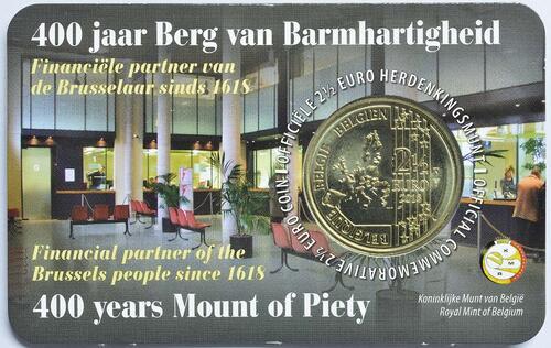 Zertifikat:Belgien : 2,5 Euro 400 Jahre Mont-de-piété  2018 bfr