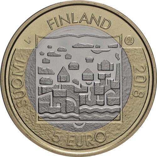 Rückseite:Finnland : 5 Euro Koivisto  2018 PP