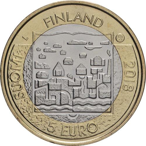 Rückseite:Finnland : 5 Euro Koivisto  2018 bfr