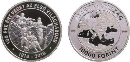 Lieferumfang:Ungarn : 10000 Forint 100 Jahre Ende des 1. Weltkriegs  2018 PP