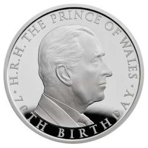 Lieferumfang:Großbritannien : 5 Pfund 70th Birthday Prince Charles Piedfort  2018 PP