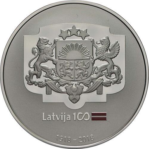 Rückseite:Lettland : 5 Euro Wappen Lettlands  2018 PP