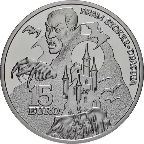Vorderseite:Irland : 15 Euro Bram Stokers Dracula  2018 PP