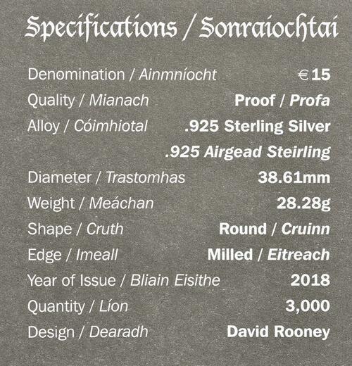 Zertifikat:Irland : 15 Euro Bram Stokers Dracula  2018 PP
