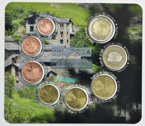 Vorderseite:Andorra : 3,88 Euro KMS Andorra  2018 Stgl.