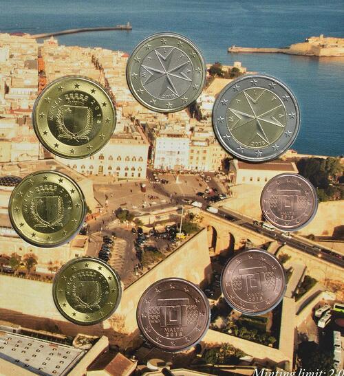 Rückseite:Malta : 3,88 Euro KMS Malta Münzzeichen F  2018 Stgl.