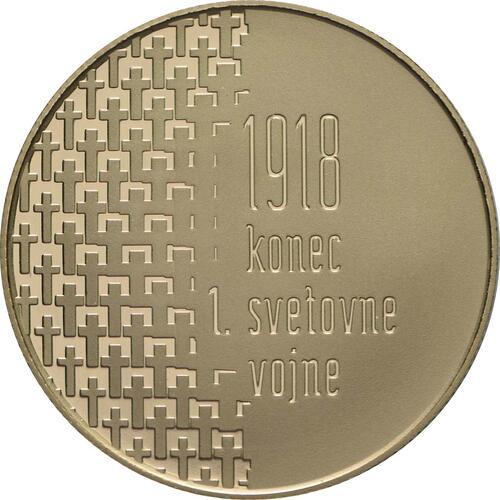 Vorderseite:Slowenien : 100 Euro 100 Jahre Ende des 1. Weltkrieges  2018 PP