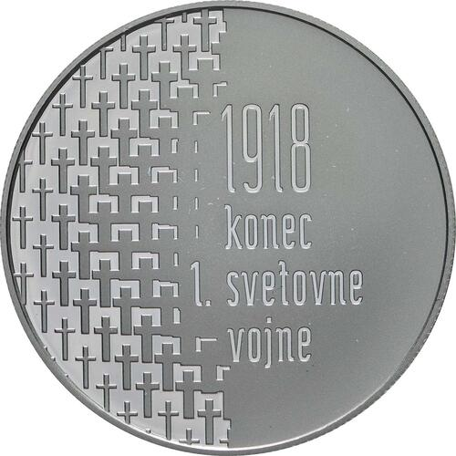 Vorderseite:Slowenien : 30 Euro 100 Jahre Ende des 1. Weltkrieges  2018 PP