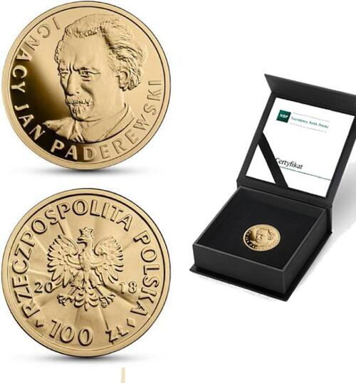 Lieferumfang:Polen : 100 Zloty 100 J. Unabhängigkeit - Ignacy Jan Paderewski  2018 PP
