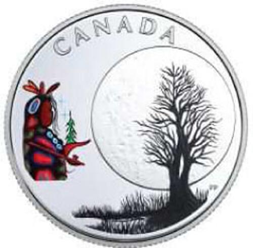 Lieferumfang:Kanada : 3 Dollar Little Spirit Moon - Die 13 Lehren von Grand. Moon  2018 PP