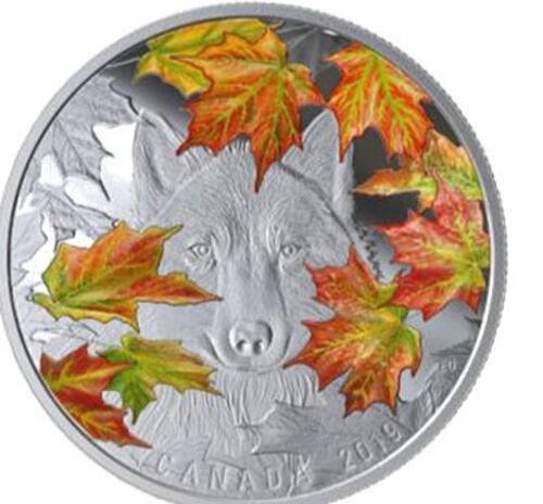 Lieferumfang:Kanada : 30 Dollar Der schlaue Wolf 2 oz  2019 PP