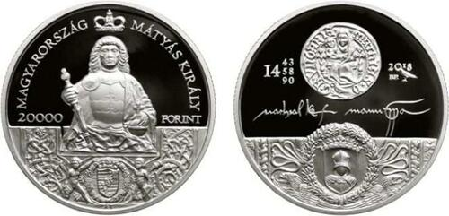 Lieferumfang:Ungarn : 20000 Forint König Matthias  2018 PP