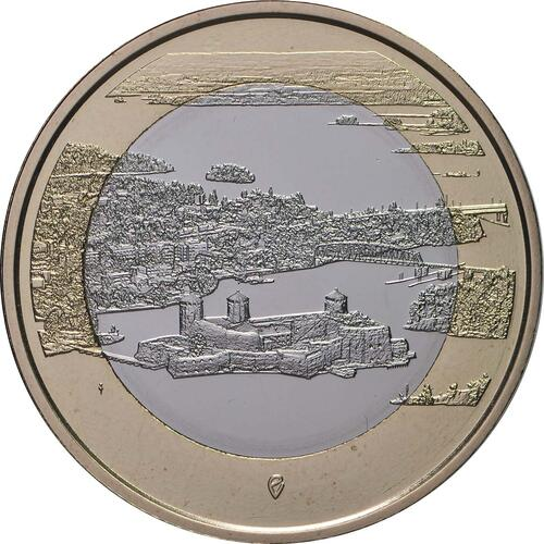 Vorderseite:Finnland : 5 Euro Olavinlinna - Pihlajavesi  2018 PP