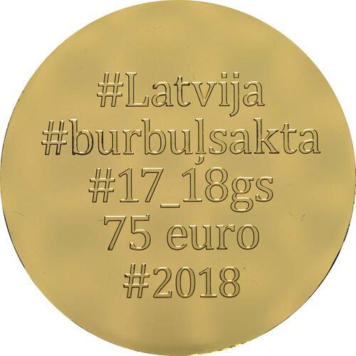 Rückseite:Lettland : 75 Euro Goldene Brosche Bubble Fibula  2018 PP