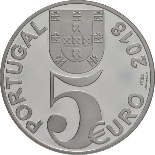 Rückseite:Portugal : 5 Euro 100 Jahre Waffenstillstand  2018 PP