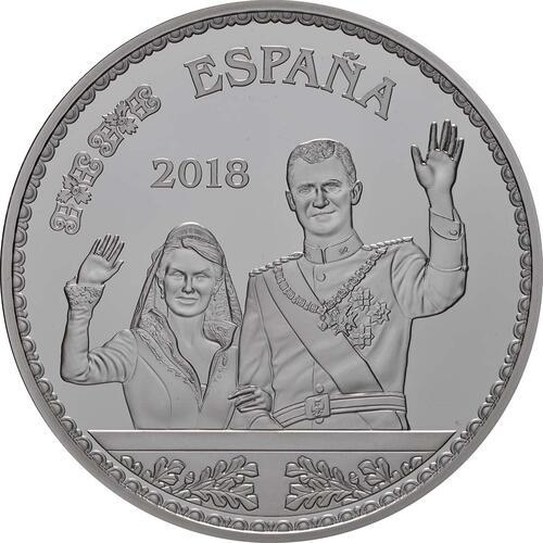 Vorderseite:Spanien : 10 Euro Hochzeit, coloriert  2018 PP