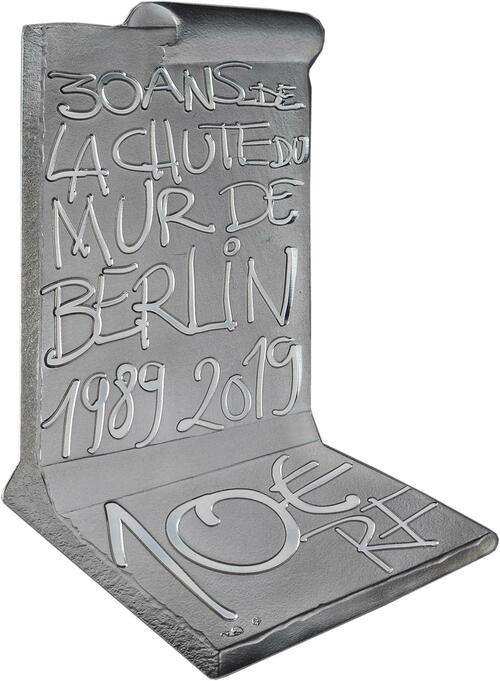 Rückseite:Frankreich : 10 Euro Fall der Berliner Mauer  2019 PP