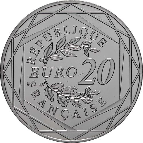 Rückseite:Frankreich : 20 Euro Marianne  2019 bfr