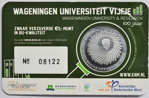Zertifikat:Niederlande : 5 Euro Uni Wageningen  2018 Stgl.