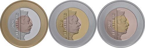 Rückseite:Luxemburg : 7,5 Euro 3x2,5 Euro UNESCO-Set  2018 PP