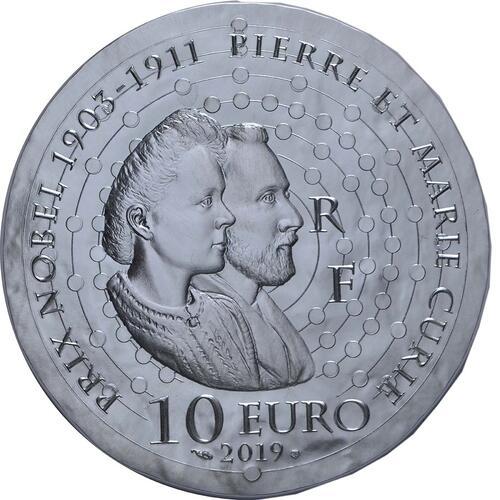 Rückseite:Frankreich : 10 Euro Marie Curie  2019 PP