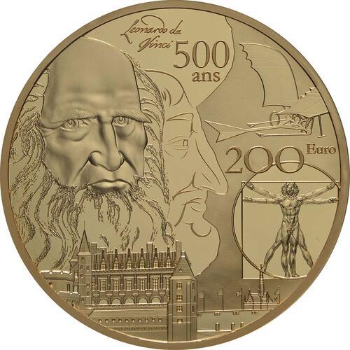 Vorderseite:Frankreich : 200 Euro Renaissance - Da Vinci  2019 PP