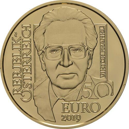 Rückseite:Österreich : 50 Euro Viktor Frankl  2019 PP
