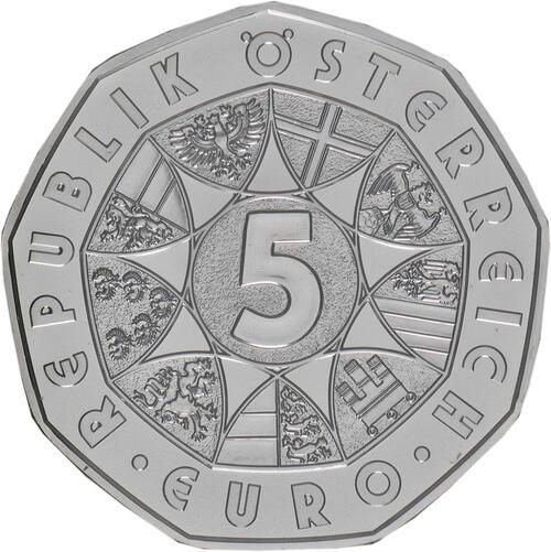 Rückseite:Österreich : 5 Euro Frühlingserwachen  2019 Stgl.