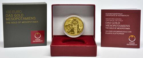 Lieferumfang:Österreich : 100 Euro Das Gold Mesopotamiens  2019 PP