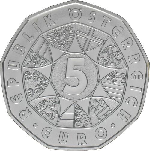 Rückseite:Österreich : 5 Euro Neujahrsmünze - 150 Jahre Musikverein  2020 Stgl.