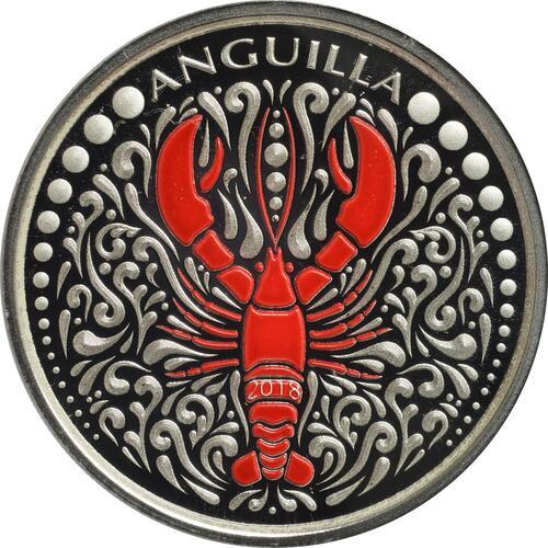 Vorderseite:Anguillen : 2 Dollar Lobster (Hummer)  2018 PP