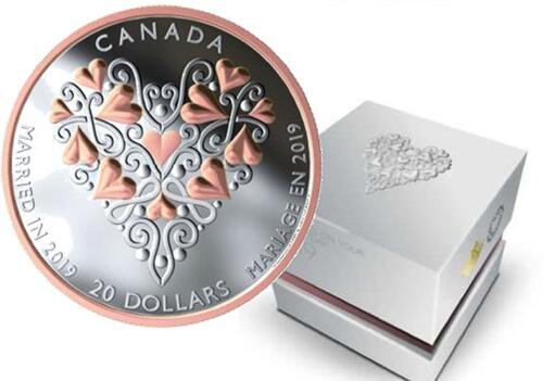 Lieferumfang:Kanada : 20 Dollar Glückwünsche zur Hochzeit!  2019 PP