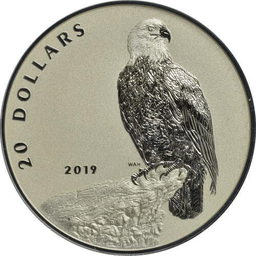 Vorderseite:Kanada : 20 Dollar Weißkopfseeadler - Der Kühne  2019 PP