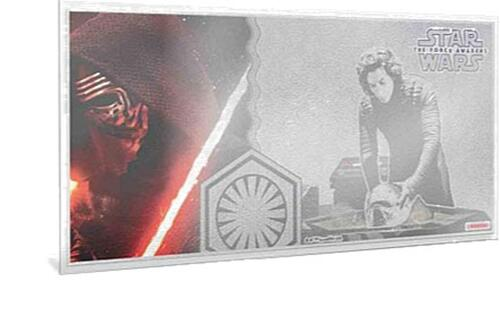 Lieferumfang:Niue : 1 Dollar Star Wars/The Force Awakens – Kylo Ren - Silberbanknote  2019 Stgl.