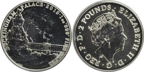 Lieferumfang:Großbritannien : 2 Pfund Buckingham Palace - Landmarks of Britain  2019 Stgl.