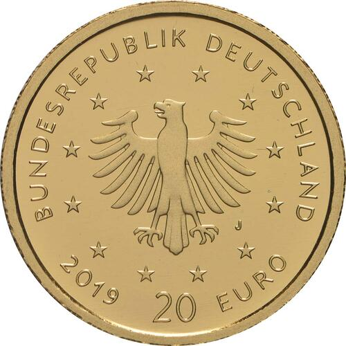 Rückseite:Deutschland : 20 Euro Wanderfalke - Buchstabe unserer Wahl  2019 Stgl.