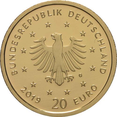 Rückseite:Deutschland : 20 Euro Wanderfalke  2019 Stgl.