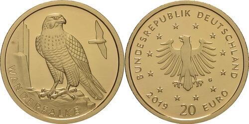 Lieferumfang:Deutschland : 20 Euro Wanderfalke  2019 Stgl.