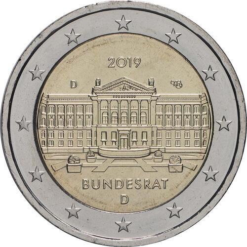 Rückseite:Deutschland : 2 Euro Bundesrat  2019 bfr
