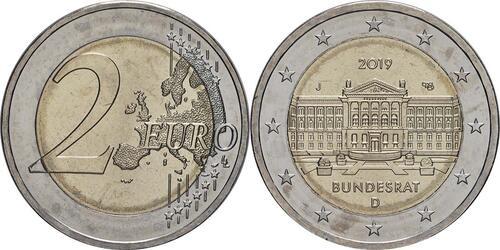 Lieferumfang:Deutschland : 2 Euro Bundesrat  2019 bfr