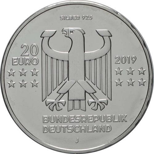 Rückseite:Deutschland : 20 Euro 100 Jahre Bauhaus  2019 bfr