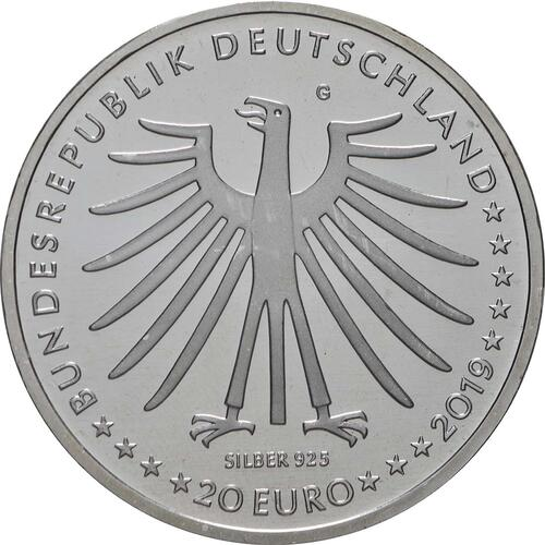 Rückseite:Deutschland : 20 Euro Das tapfere Schneiderlein  2019 bfr