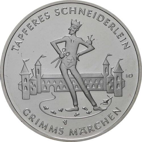 Vorderseite:Deutschland : 20 Euro Das tapfere Schneiderlein  2019 bfr