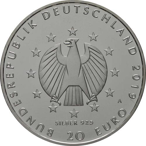 Rückseite:Deutschland : 20 Euro 100 Jahre Weimarer Reichsverfassung  2019 bfr